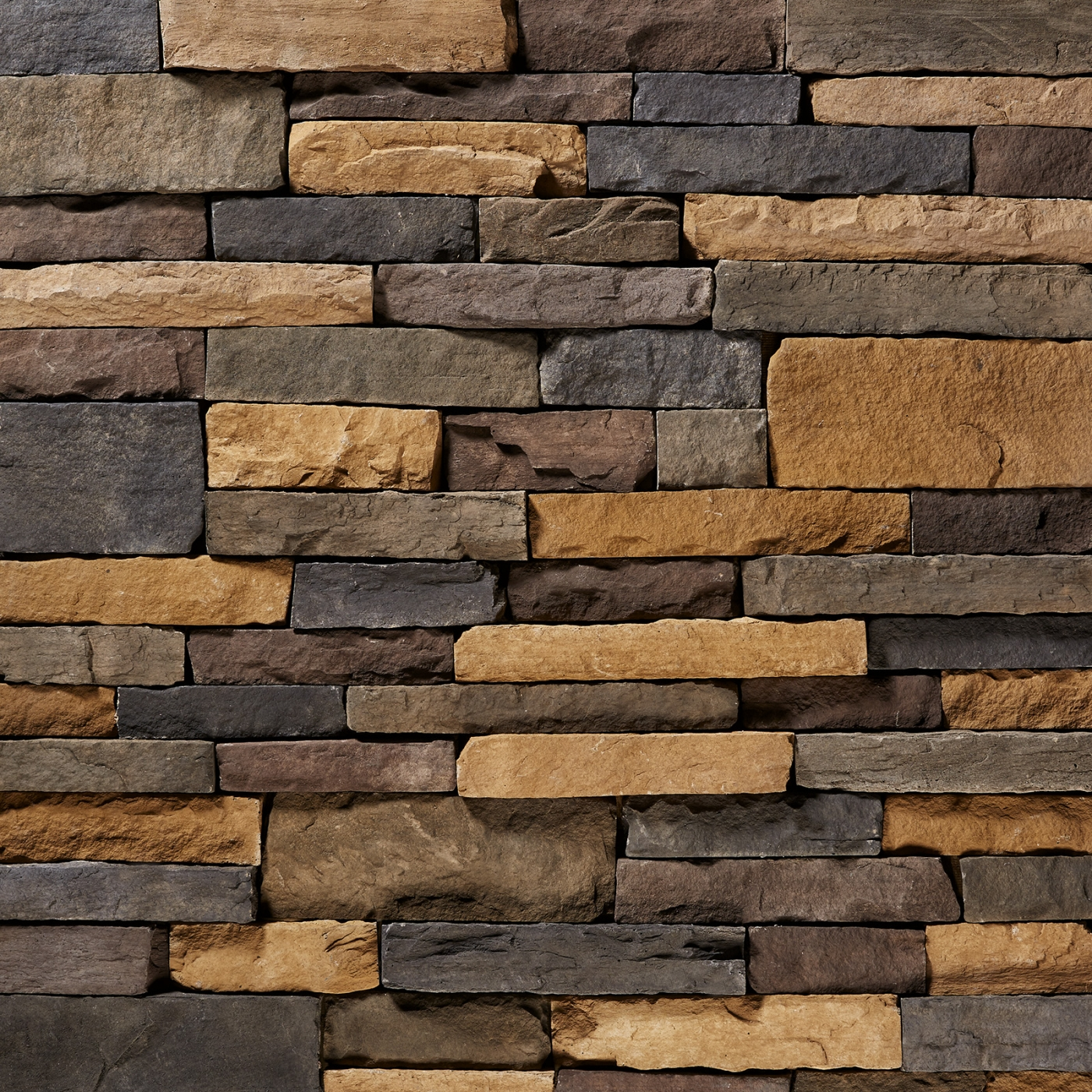 Aspen Black Blend Mountain Ledgestone Stone Veneer from Environmental StoneWorks