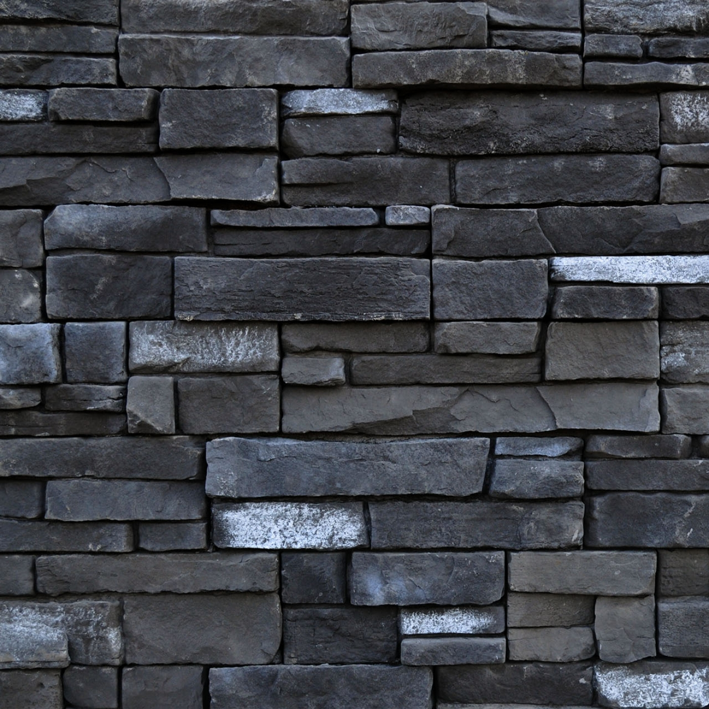 Black Rundle Mountain Ledgestone Stone Veneer from Environmental StoneWorks
