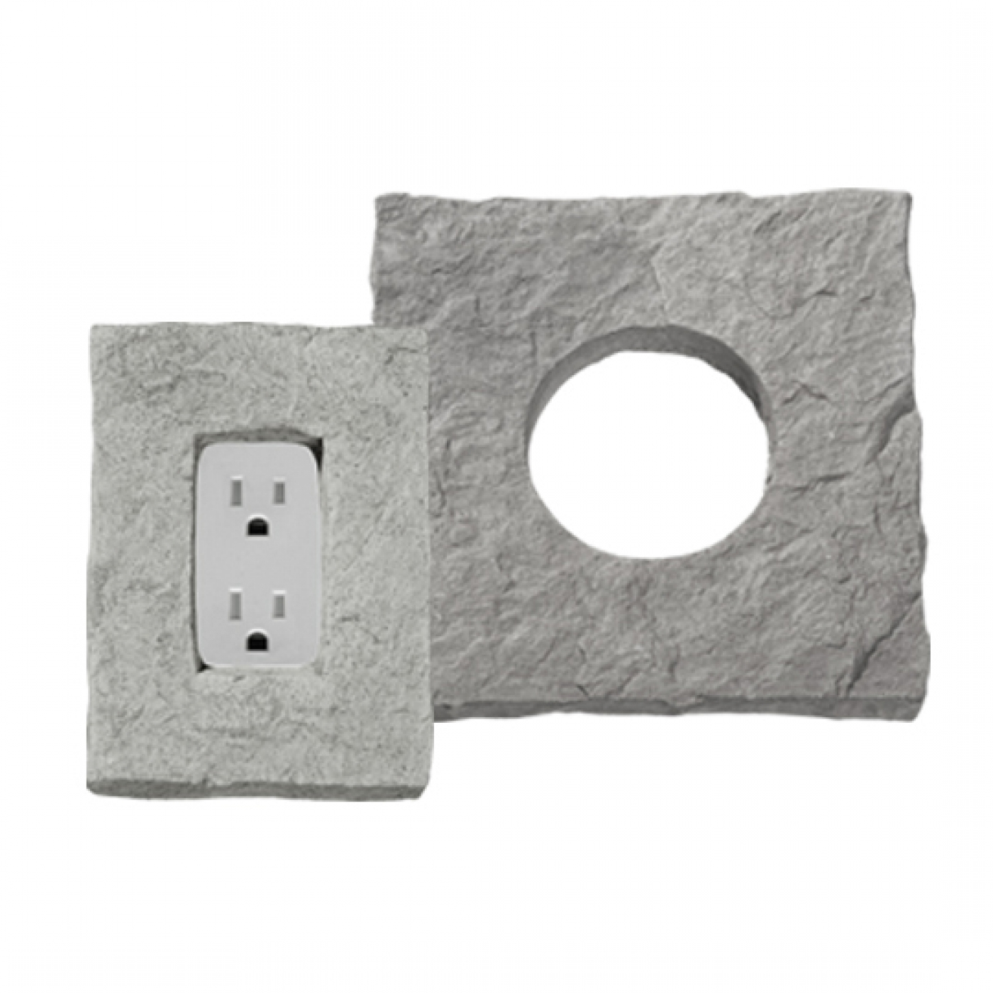 Electrical Outlets & Light Stones Stone Veneer from Environmental StoneWorks