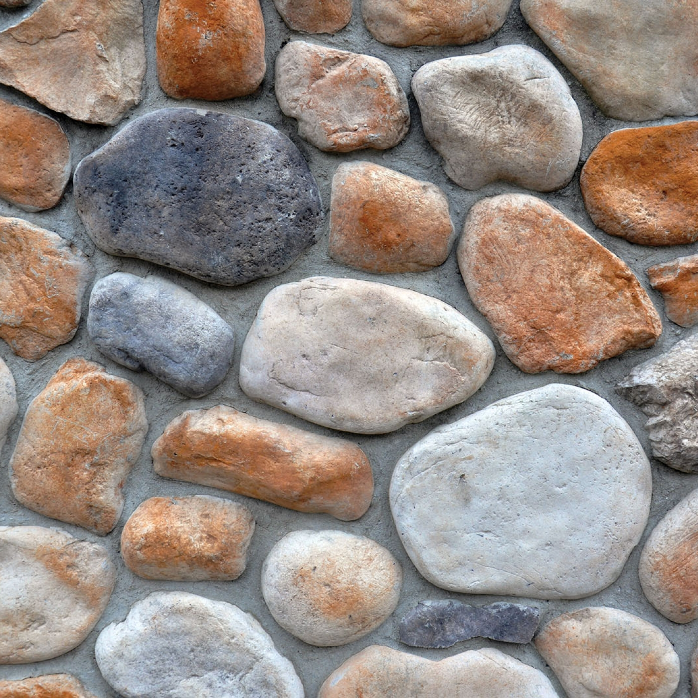 Valley Brook River Rock Stone Veneer from Environmental StoneWorks